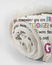 "Love Gigi - GD v2BL Small Fleece Blanket - 30"" x 40"" aos-coral-fleece-blanket-30x40-lifestyle-front-18"