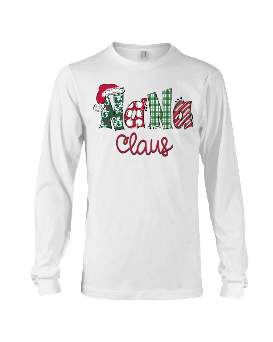 Nana Claus Christmas Art Long Sleeve Tee
