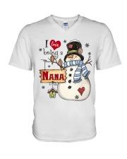 I LOVE BEING A NANA - Christmas Gift V-Neck T-Shirt thumbnail
