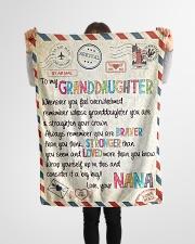 "Love Nana - GD v2BL Small Fleece Blanket - 30"" x 40"" aos-coral-fleece-blanket-30x40-lifestyle-front-14"