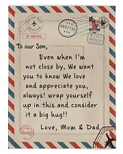 To our Son - Love  Mom and Dad - v2 Comforter tile