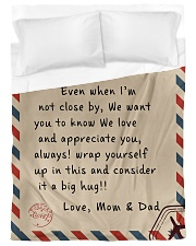 To our Son - Love  Mom and Dad - v2 Duvet Cover tile