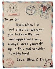 To our Son - Love  Mom and Dad - v2 Fleece Blanket tile