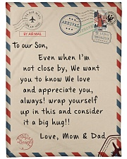 """To our Son - Love  Mom and Dad - v2 Large Fleece Blanket - 60"""" x 80"""" front"""