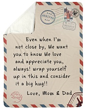 To our Son - Love  Mom and Dad - v2 Sherpa Fleece Blanket tile