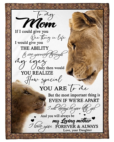 To my Mom - Love your Daughter