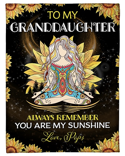 To my Granddaughter - Pops