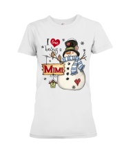I LOVE BEING A MIMI - Christmas Gift Premium Fit Ladies Tee thumbnail