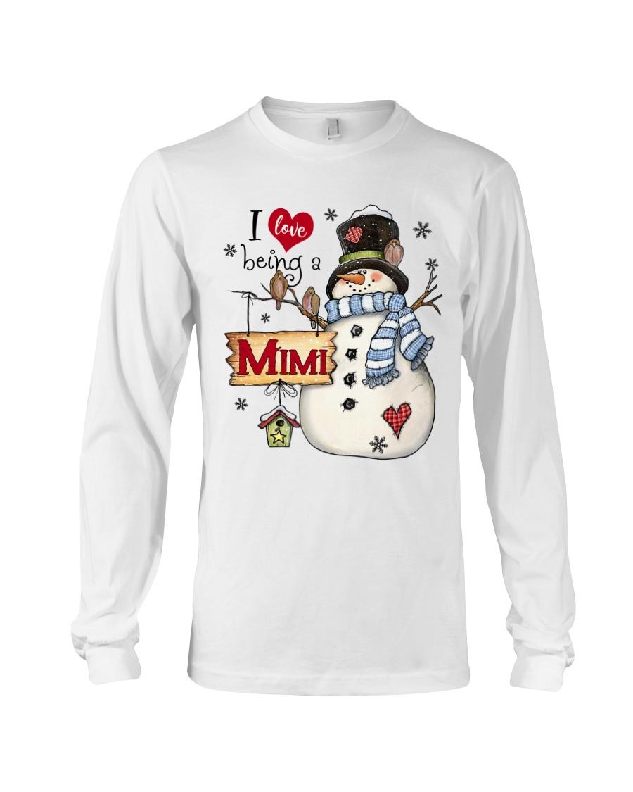 I LOVE BEING A MIMI - Christmas Gift Long Sleeve Tee