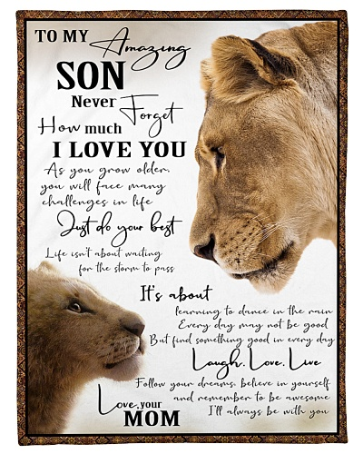 To My Amazing Son - Love Mom