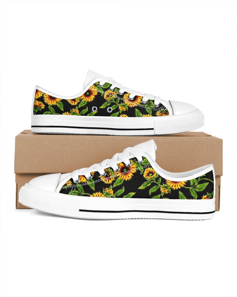 Sunflowers Women's Low Top White Shoes