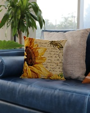 Sunflower Square Pillowcase aos-pillow-square-front-lifestyle-02