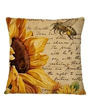 Sunflower Square Pillowcase back