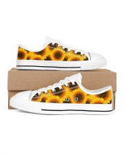 Sunflowers Women's Low Top White Shoes inside-right-outside-right