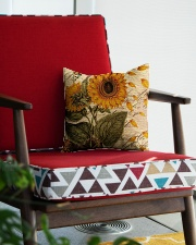 Sunflower Square Pillowcase aos-pillow-square-front-lifestyle-09