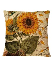 Sunflower Square Pillowcase back