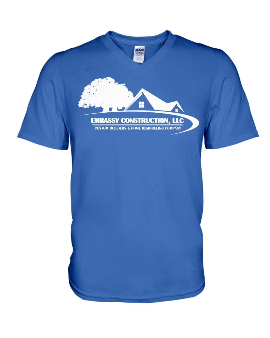 EMBASSY CONSTRUCTION 2019 ROYAL V-Neck T-Shirt