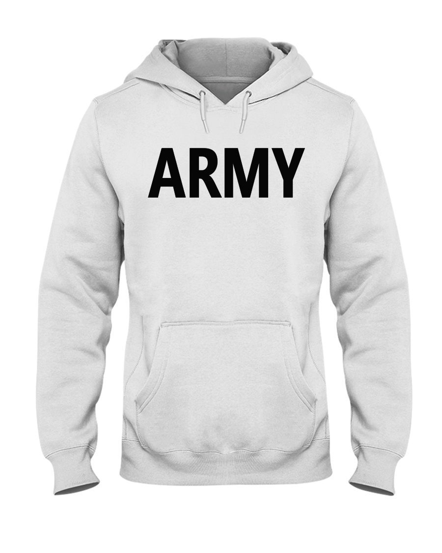 ARMY BASICS - BLACK LETTERS Hooded Sweatshirt