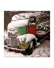 Christmas Tree Truck Square Coaster front