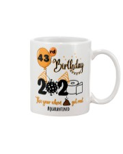43rd Birthday Mug tile