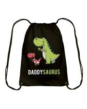 Daddysaurus T-Rex Dinosaur Papasaurus Dino Drawstring Bag thumbnail