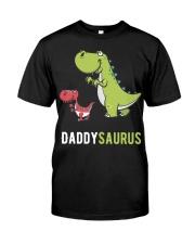 Daddysaurus T-Rex Dinosaur Papasaurus Dino Classic T-Shirt thumbnail