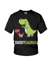 Daddysaurus T-Rex Dinosaur Papasaurus Dino Youth T-Shirt thumbnail