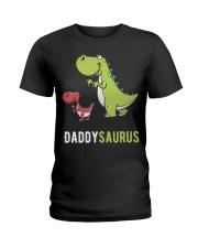 Daddysaurus T-Rex Dinosaur Papasaurus Dino Ladies T-Shirt thumbnail