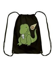 Tyrannosaurus Selfie Funny Dinosaur Drawstring Bag thumbnail