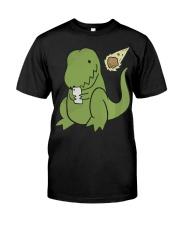 Tyrannosaurus Selfie Funny Dinosaur Classic T-Shirt thumbnail
