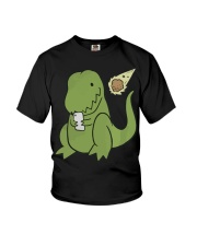 Tyrannosaurus Selfie Funny Dinosaur Youth T-Shirt thumbnail