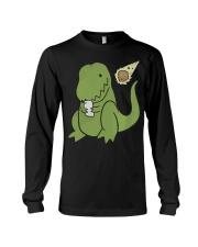 Tyrannosaurus Selfie Funny Dinosaur Long Sleeve Tee thumbnail