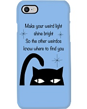 Make your weird light shine bright cat Phone Case thumbnail