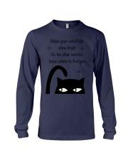 Make your weird light shine bright cat Long Sleeve Tee thumbnail