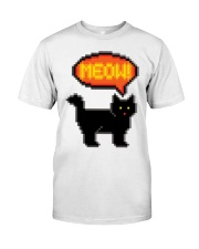Meow - Funny Cat Classic T-Shirt front
