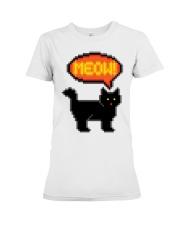 Meow - Funny Cat Premium Fit Ladies Tee thumbnail