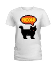 Meow - Funny Cat Ladies T-Shirt thumbnail