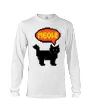 Meow - Funny Cat Long Sleeve Tee thumbnail