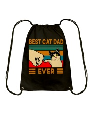 Best cat dad ever Slim Fit T-Shirt Drawstring Bag thumbnail