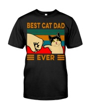 Best cat dad ever Slim Fit T-Shirt Classic T-Shirt front