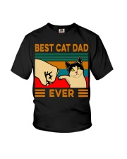 Best cat dad ever Slim Fit T-Shirt Youth T-Shirt thumbnail