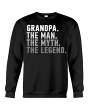 Awesome Grandpa The Man The Myth The Legend Crewneck Sweatshirt thumbnail