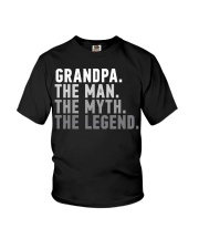 Awesome Grandpa The Man The Myth The Legend Youth T-Shirt thumbnail