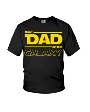 Best Dad in The Galaxy Slim Fit T-Shirt Youth T-Shirt thumbnail