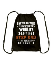 Funny Gifts for Step Dad in Father's Day Birthday Drawstring Bag thumbnail