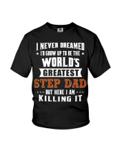 Funny Gifts for Step Dad in Father's Day Birthday Youth T-Shirt thumbnail