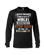 Funny Gifts for Step Dad in Father's Day Birthday Long Sleeve Tee thumbnail