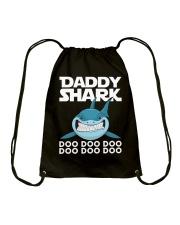 Daddy Shark Doo Doo Doo Fathers Day T-shirt Drawstring Bag thumbnail
