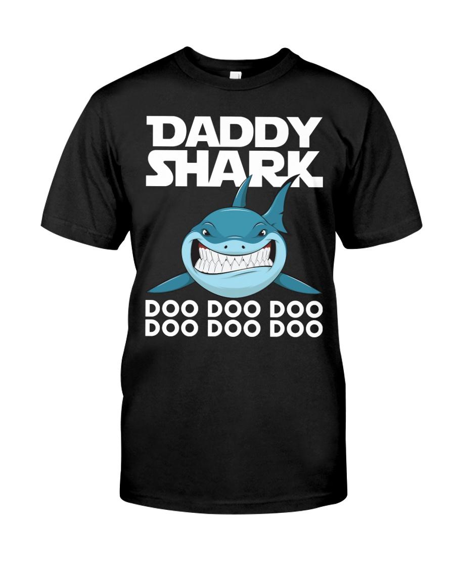Daddy Shark Doo Doo Doo Fathers Day T-shirt Classic T-Shirt