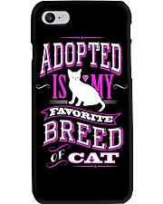 Adopted is my favorite breed of cat - Funny Cat Phone Case thumbnail